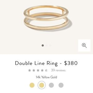 MEJURI DOUBLE LINE RING 14K GOLD ✨
